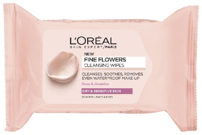 L'Oreal Paris Fine Flowers Wipes Sensitive and Dry Skin 50g