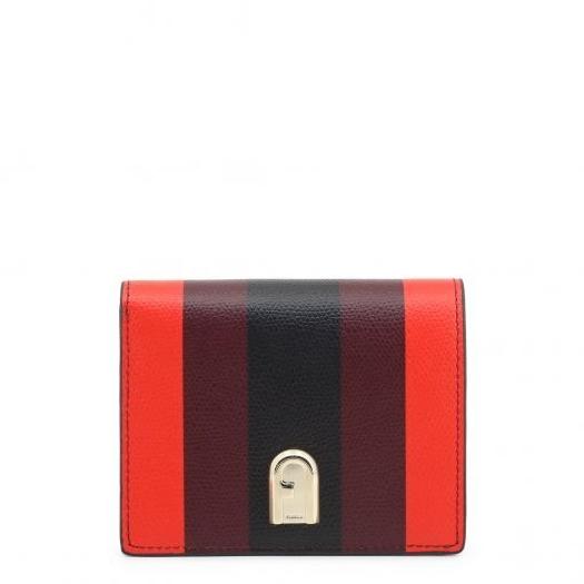 Furla 1927 S Bifold Wallet, Fuoco-Burgundy-Nero, 1056390
