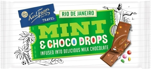 Karl Fazer Travel Mint Choco Drops 130g