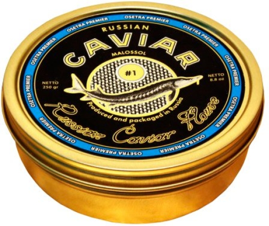 Russian Caviar House Premier Sturgeon Caviar Black 250g