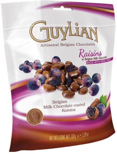 Guylian Milk Chocolate Raisins Standard 150g