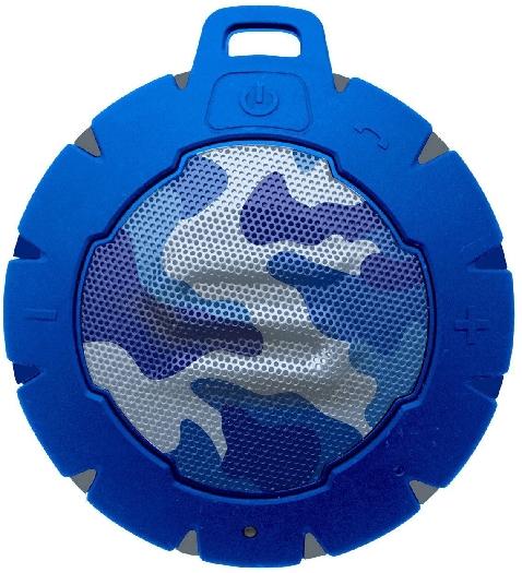 Soul Storm Weatherproof Wireless Speaker with Bluetooth - Camo Blue 162g