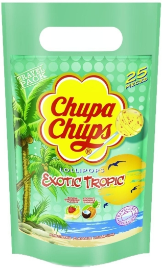 Chupa Chups Exotic Tropic Lollipops Bag 300g