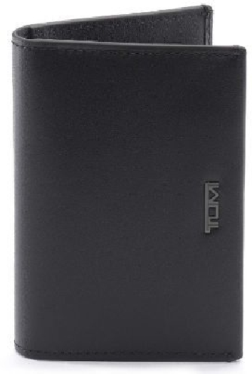 Tumi Nassau Multi Window Card Case, Black Smooth 01262174DST060