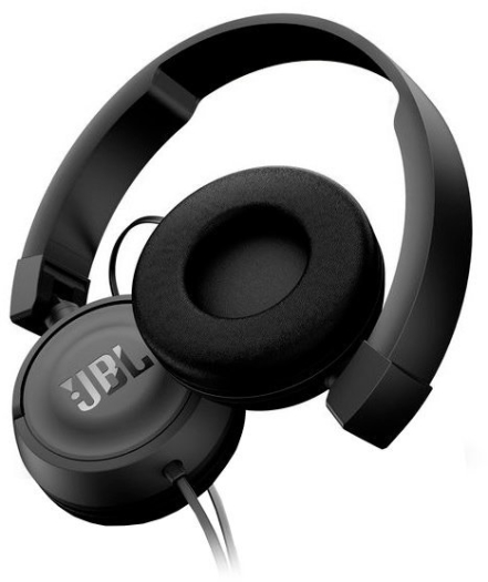 JBL Headset On Ear Mic T450 Black