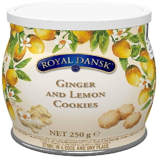 Royal Dansk Lemon And Ginger Cookies 250g