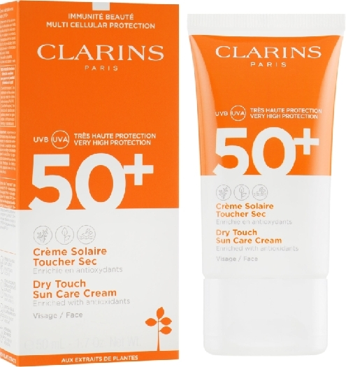 Clarins Sun Care Face 80050644 SUNCR Dry Touch Facial Sunscreen SPF 50 50ml