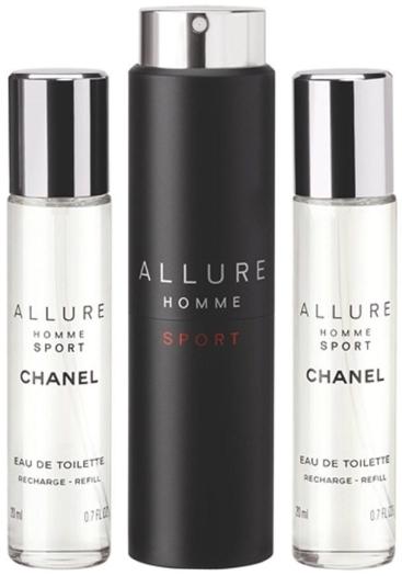 Chanel Allure Homme Sport Eau de Toilette Refillable Travel Spray EdT 3x20ml