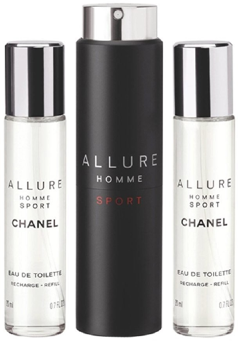 Chanel Allure Homme Sport Eau de Toilette Refillable Travel Spray 3x20ml