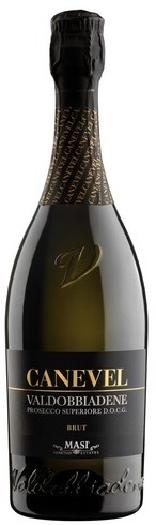 Canevel Black Label Valdobbiadene Prosecco Superiore DOCG, White Brut Sparkling Wine 0,75L