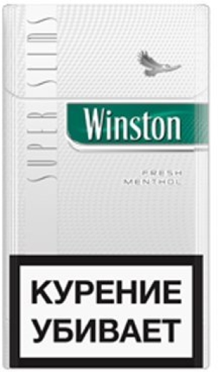 Winston Super Slims Fresh Menthol Pack