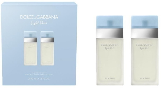 Dolce&Gabbana Light Blue Woman Eau de Toilette Duo Set EdT 2x50ml