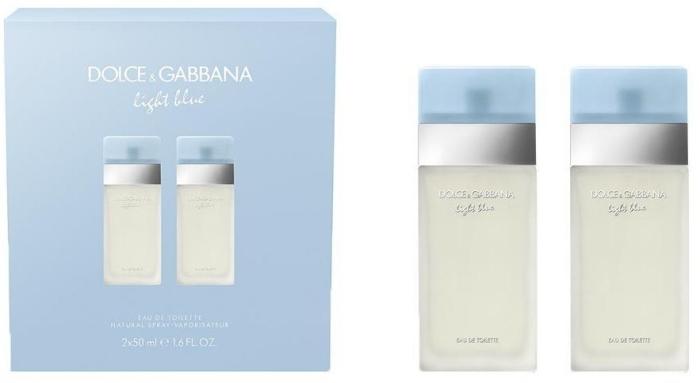 Dolce&Gabbana Light Blue Woman Eau de Toilette Duo Set EdT 2x50ml