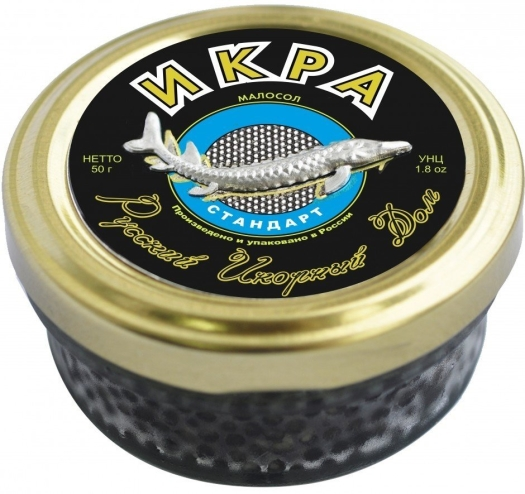 Russian Caviar House Sturgeon Caviar Standard Black 50g