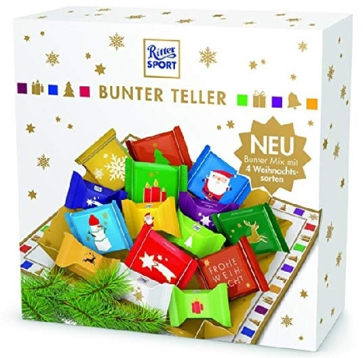 Ritter Sport Colourful Chocolate Plate 230G