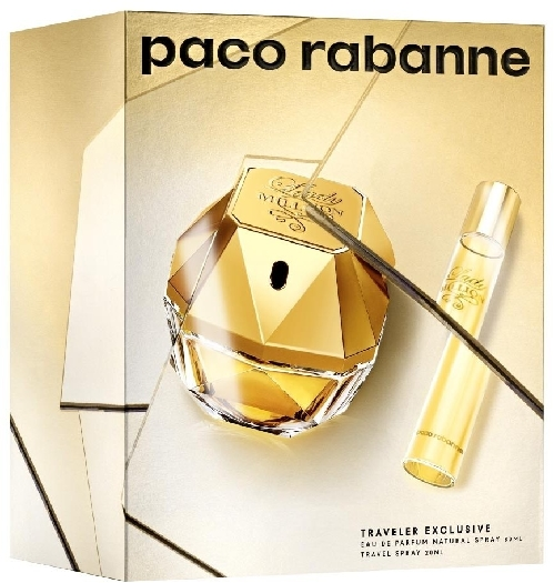 Paco Rabanne Lady Million Set EdP 80ml + Travel Spray 20ml