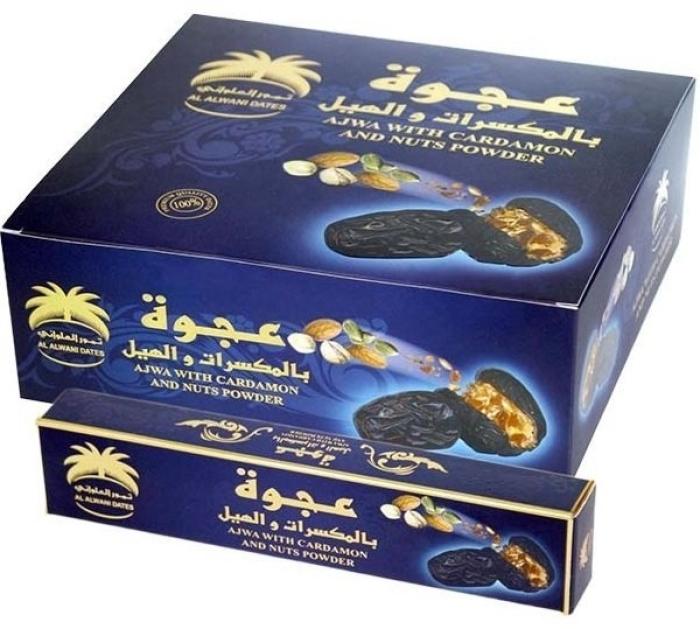 Siafa Ajwa Dates With Cardamom And Nuts Powder Hadith Gift Box 12x55g