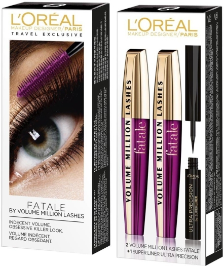 L'Oreal Paris Fatale Mascara Set 2x9.4ml+2g