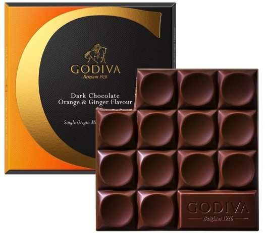 Godiva Tablet Dark Orange 75g