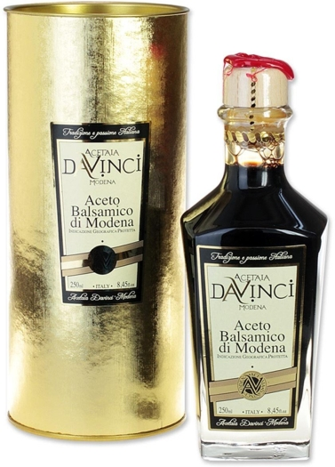 Da Vinci Balsamic Vinegar in golden cylinder