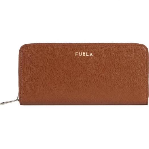 Furla Next XL Ziparound slim Wallet, Brown 1056303