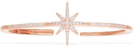 APM Monaco Météorites Open Bangle - Pink Silver