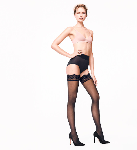 Wolford Velvet Light 40 Stay-Up XS