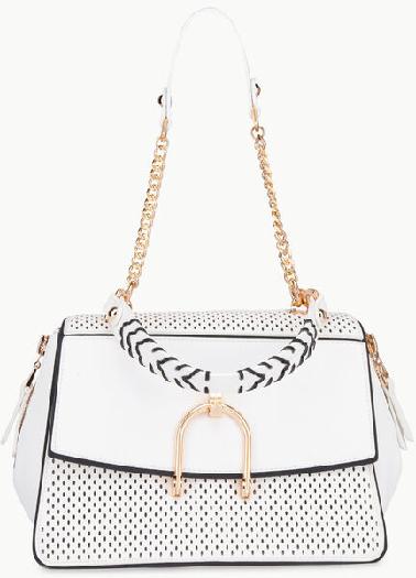 Liu Jo Openwork White handbag