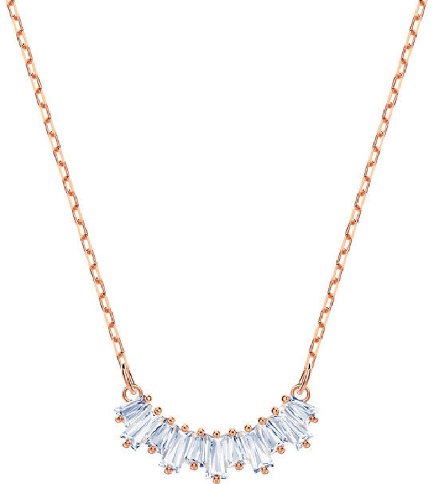 Swarovski Sunshine Necklace, White, Rose Gold Plating