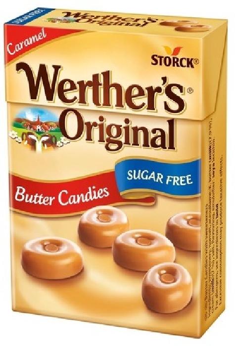 Werther's Original Minis sugarfree in box 42g