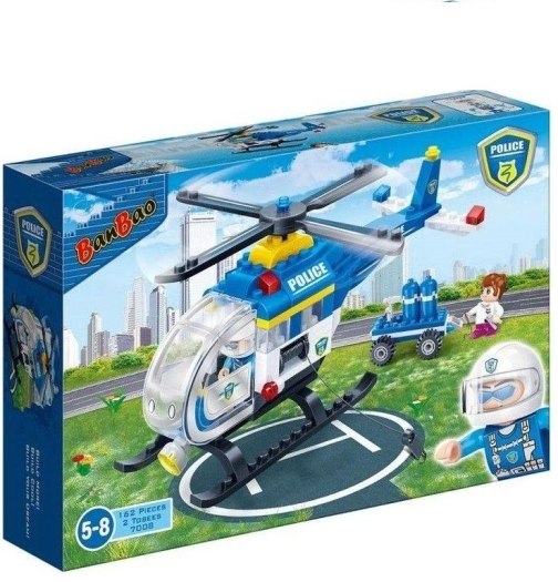 Banbao Police Chopper Building Bricks 340g