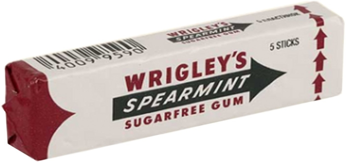 Wrigley's Spearmint Sugarfree Chewing Gum 39g