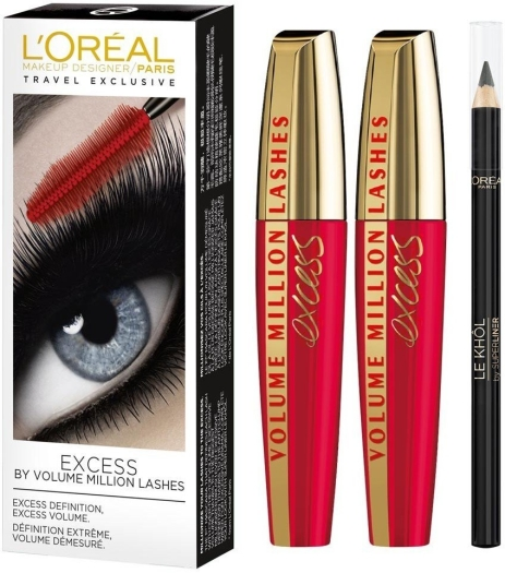 L'Oreal Volume Million Lashes Excess Duo Set 2x9ml+1,5g