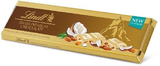 Lindt Gold Tablet White Coconut Almond 300g