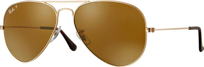 Ray-Ban Sunglasses Aviator Gold Brown Polarized Medium in duty-free ... 0722048db1336