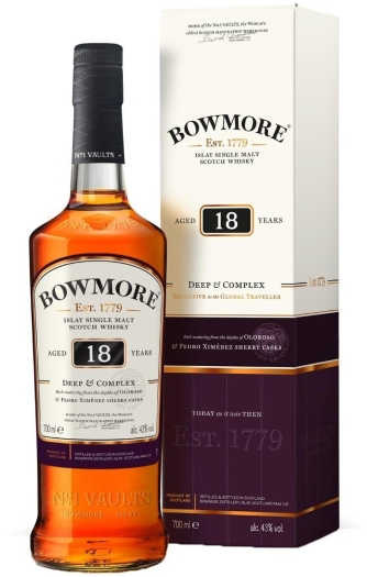 Bowmore 18yo Whiskey 43% 0.7L