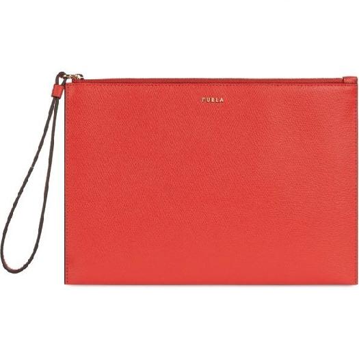 Furla Babylon XL Envelope Clutch, Red 1056547