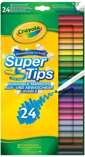 Crayola Klassik 24 Bright Supertips