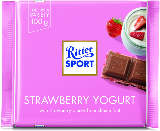 Ritter Sport Strawberry Yogurt 100g