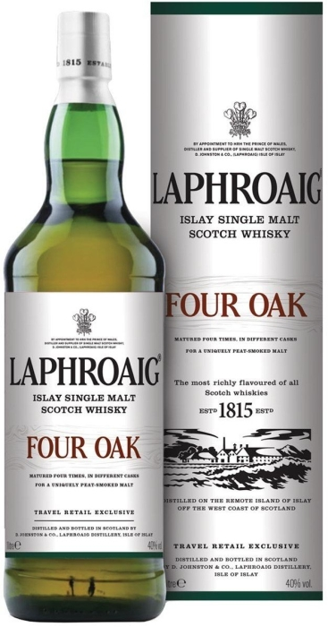 Laphroaig Four Oak 40% Tin 1L
