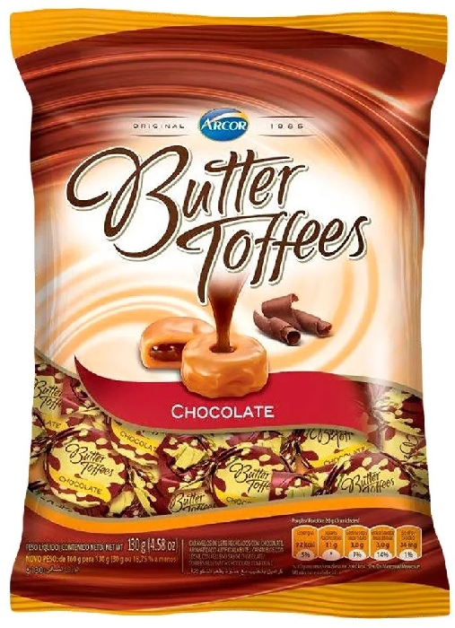 Arcor Butter Toffee Chocolates 500g