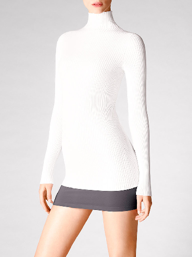 Wolford Viscose Rib Pullover white M