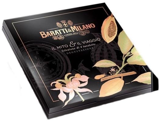 Baratti&Milano Il Mito e il Viaggio Assorted Dark Chocolate Bars 300g