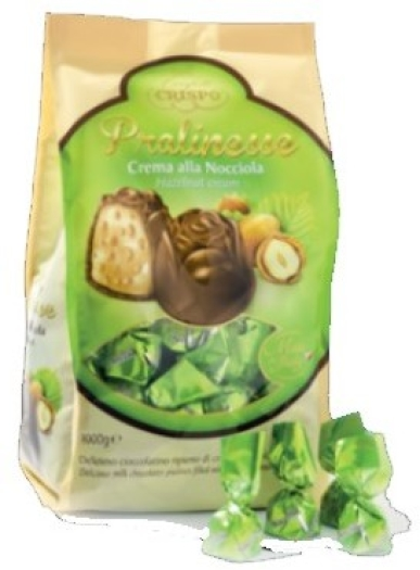 Crispo Milk chocolate pralines filled with hazelnut cream and crunchy cereals 1000g