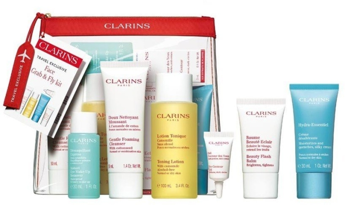 Clarins Take Off Grab and Fly Set