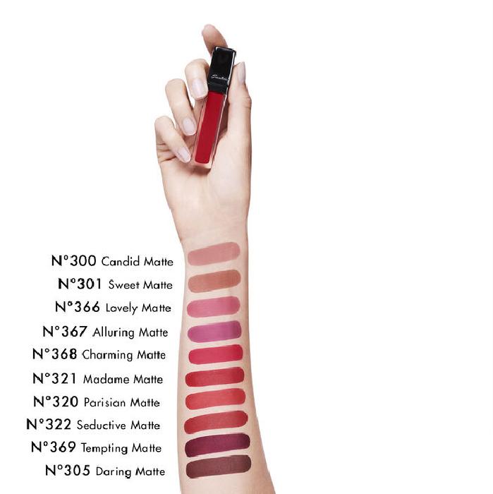 Guerlain Kisskiss Intense Liquid Matte Lip Gloss N300 Candid Matte