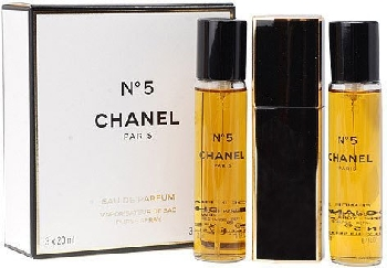 Eau de Toilette Chanel No.5 with two Refills 3x20ml