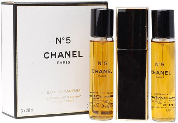 Chanel No.5 with two Refills EdT 3x20ml