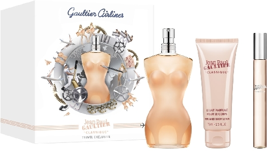 Gaultier Airlines Jean Paul Gaultier Classique Travel Set 100ml+10ml+75ml