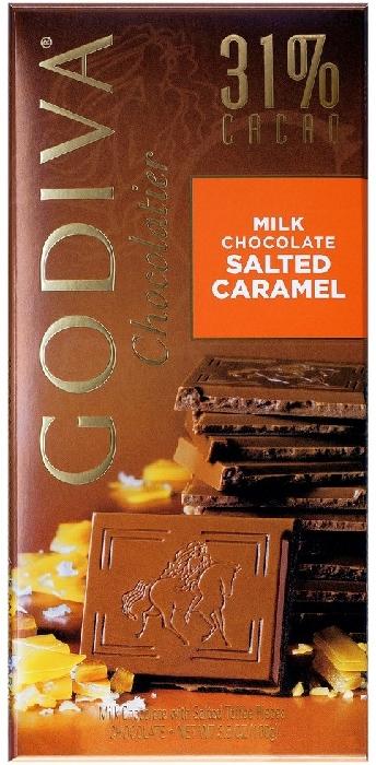 Godiva Tablet Milk Salted Caramel 100g
